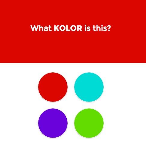 Kolor test de reconnaissance des couleurs