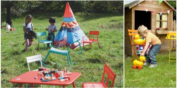 Salon de jardin pour enfant et mobilier exterieur kids fermob.