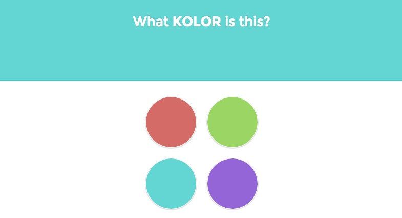 Test Quelle couleur est-ce ?