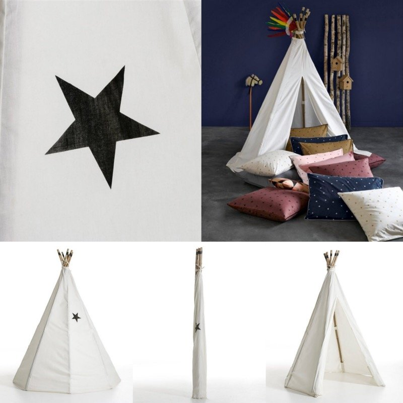 un tipi pour une chambre d 39 enfant inspiration d co enfants tipi pas cher blog d co clem. Black Bedroom Furniture Sets. Home Design Ideas