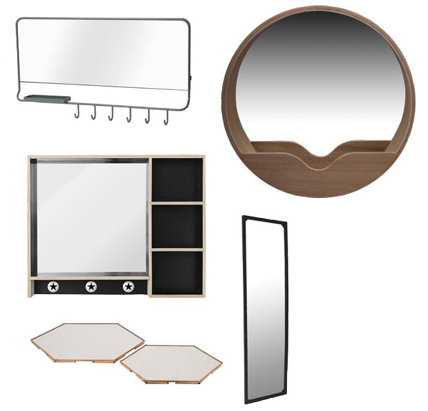 conseil astuce idee aménager une petite entrée amenagement miroir.