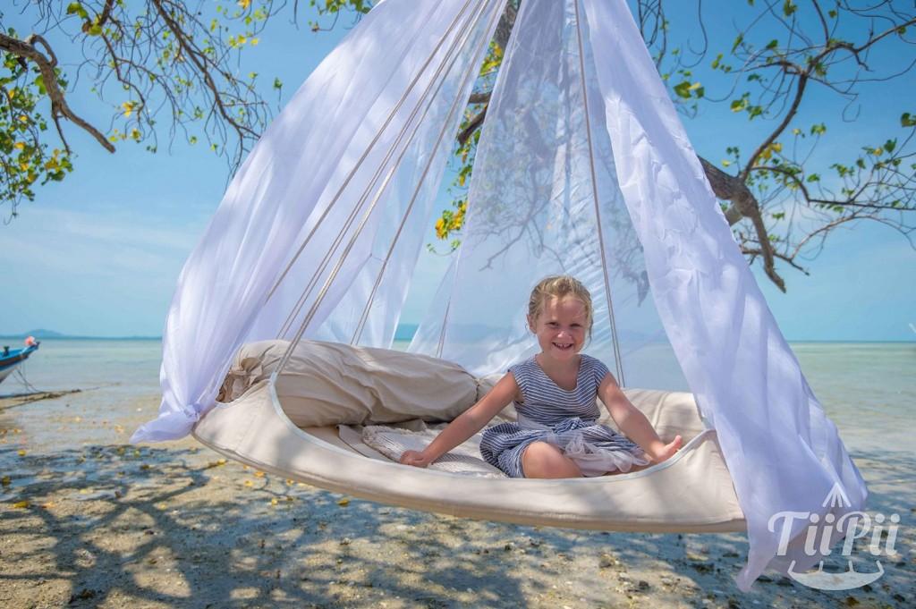 enfant mobilier d'extérieur lit hamac suspendu avec moustiquaire.