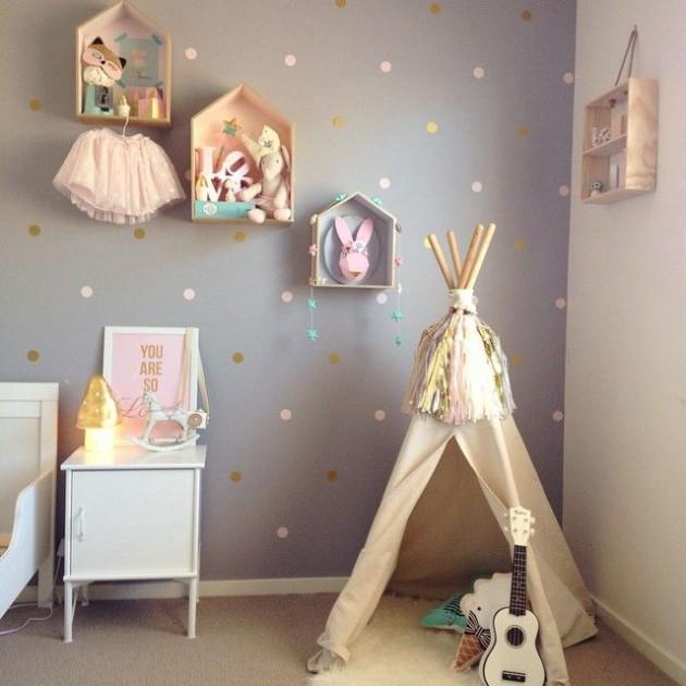 inspiration chambre romantique tipi pour une chambre d'enfant