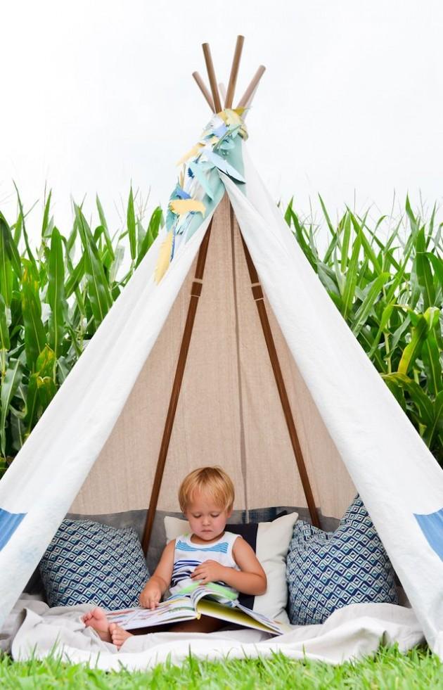 tipi pour une chambre d 39 enfant inspiration blog d co clematc. Black Bedroom Furniture Sets. Home Design Ideas