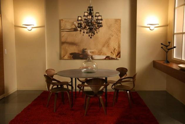 la salle à manger l'Appartement des Van der Woodsen bass Gossip Girl.