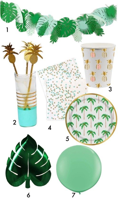 pique nique jungle décoration mariage tropical ananas blog déco clemaroundthecorner