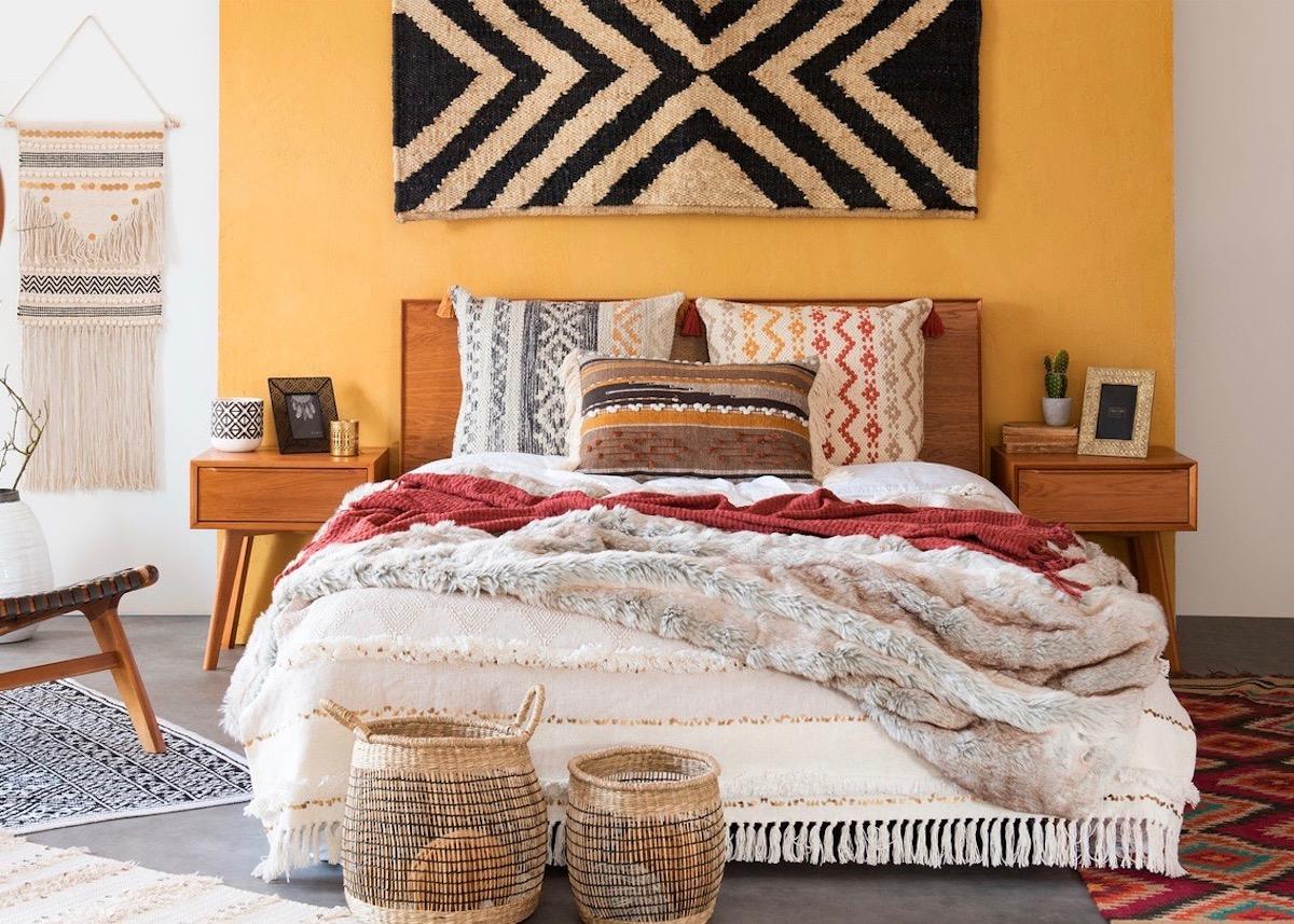 chambre cosy maisons du monde couleurs chaudes our une decoration ethnique