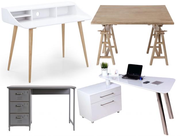 Bureau design pour ado adolescent architecte scandinave.