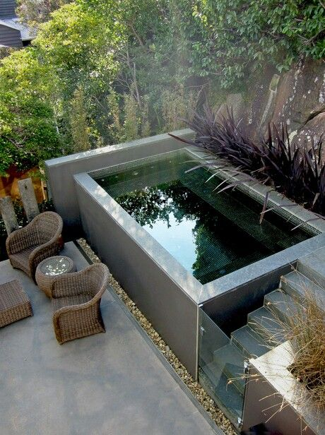 Petit jardin hors sol id es de - Piscine hors sol beton ...