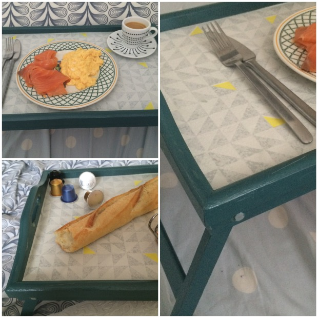 tuto diy decorer un plateau de petit dejeuner.