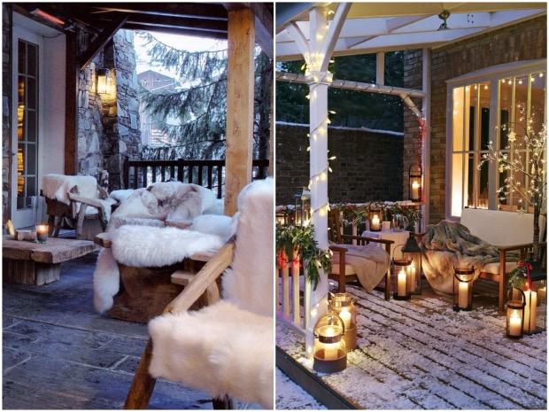 eclairer equiper sa terrasse pour l'hiver lanterne.