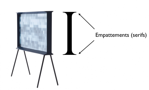 Serif tv empattement I.