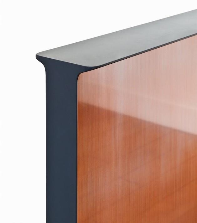 Silhouette écran tranche détail noir mat