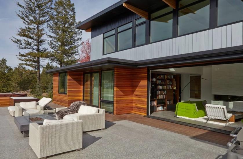 terrasse canada une maison ouverte sur la nature.