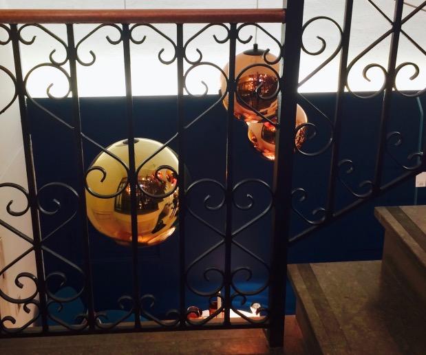 Escalier vintage fer forgé