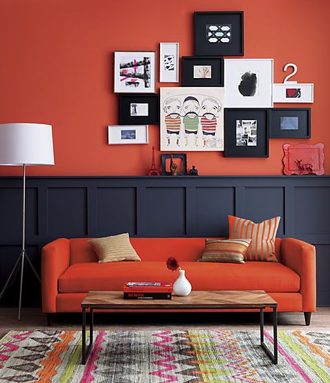 peinture mur orange