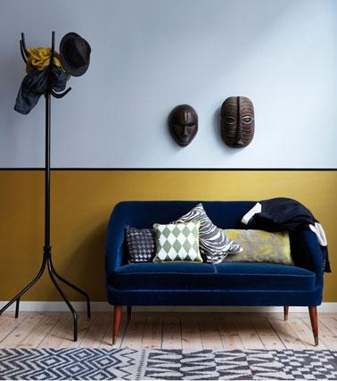 mur jaune moutarde