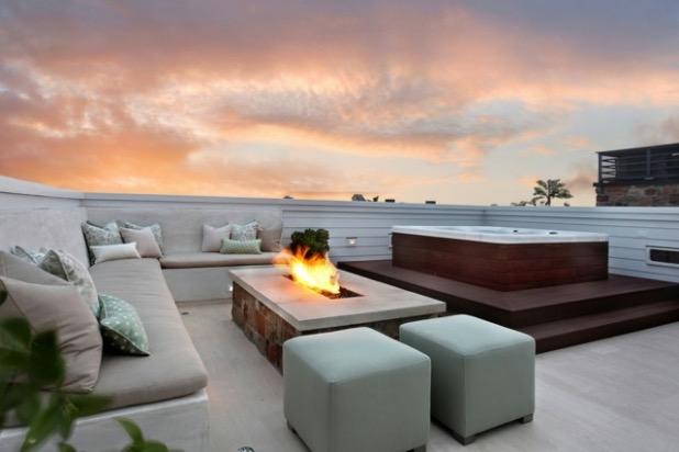 aménagements extérieurs toit terrasse baignoire exterieur