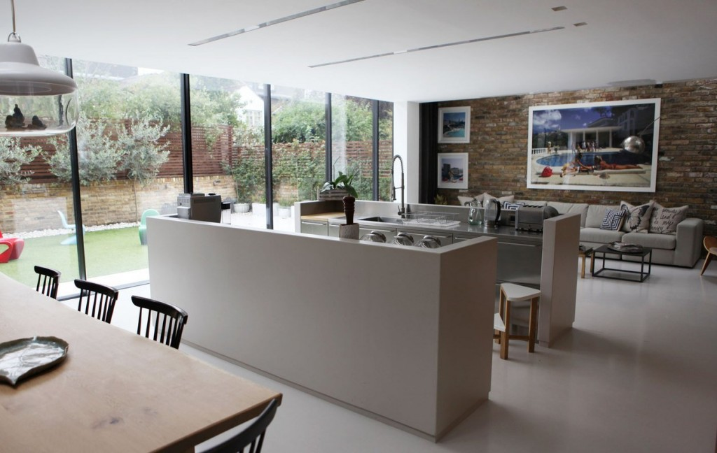 coin cuisine ouverte blanche design Chloe Macintosh Londres.