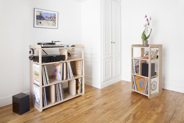 ranger ses vinyles s lection meuble vinyle rangement pour mes platines blog d co clem. Black Bedroom Furniture Sets. Home Design Ideas