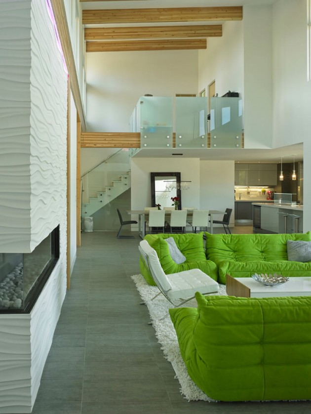 salon loft canape togo vert.