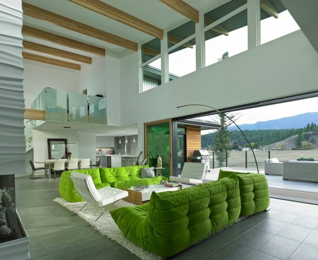 salon maison ouverte sur la nature canada.