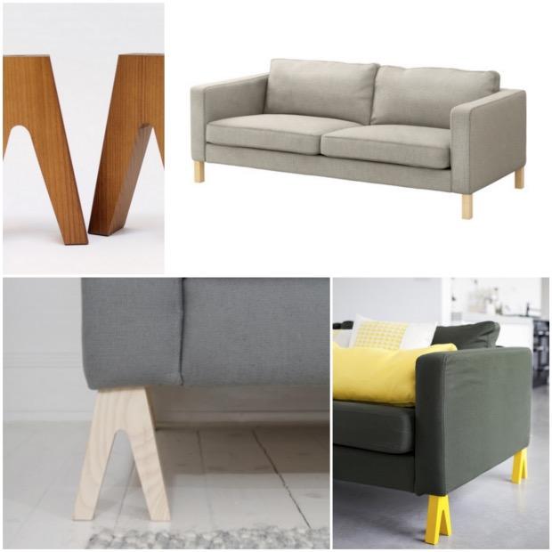 transformer personnaliser son canapé IKEA karlstad Hillevi prettypegs.