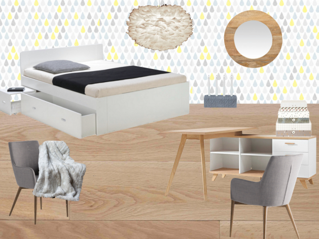 deco chambre ado fille scandinave epuree cocooning