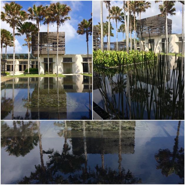bassin effet miroir architecture bali