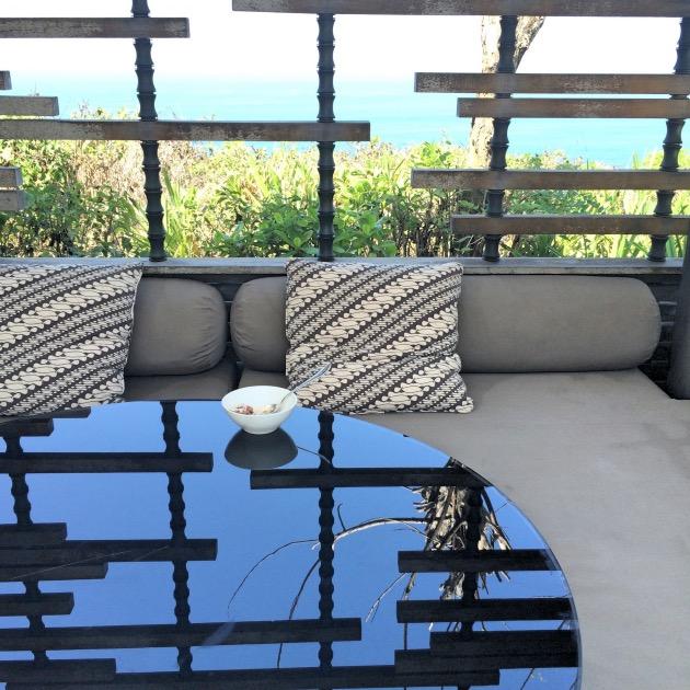 table miroir Alila Villas Uluwatu