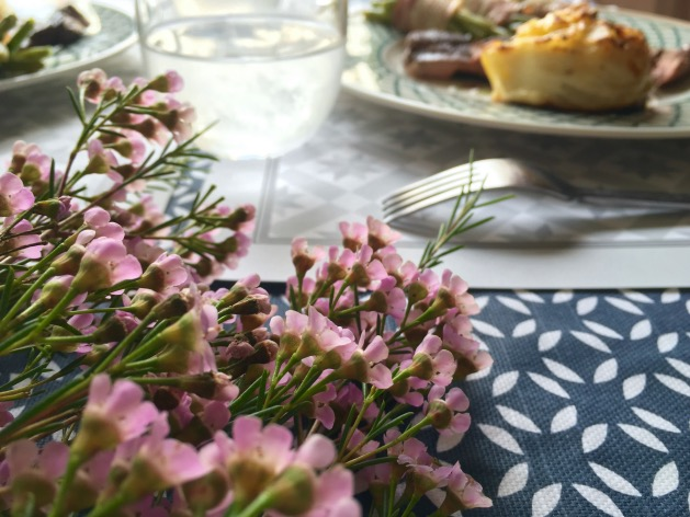 repas beaux parents table deco