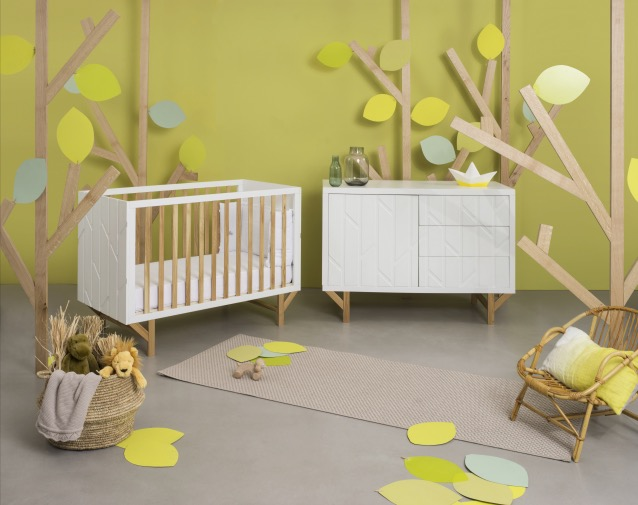 chambre bebe verte forest natalys x hekla