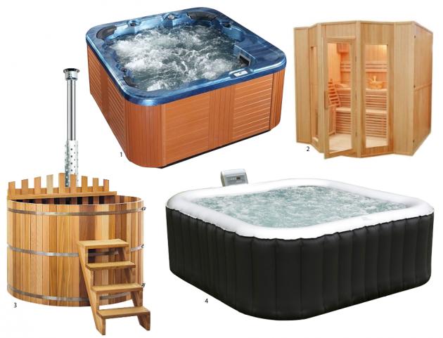 jacuzzi sauna gonflable bain nordique pour l'exterieur.
