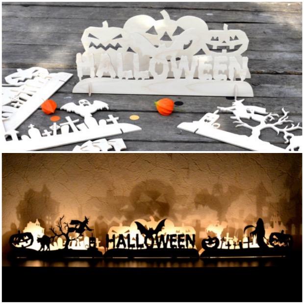 bougeoir bois halloween etsy ombre.