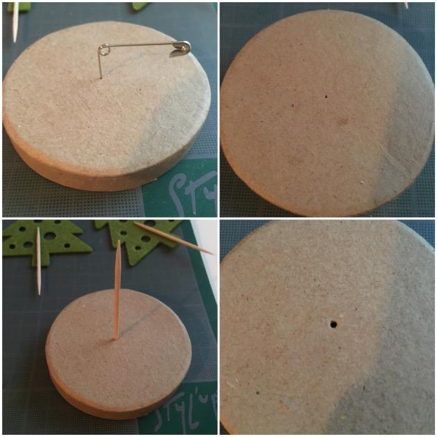 DIY calendrier de l'avent forêt de sapins