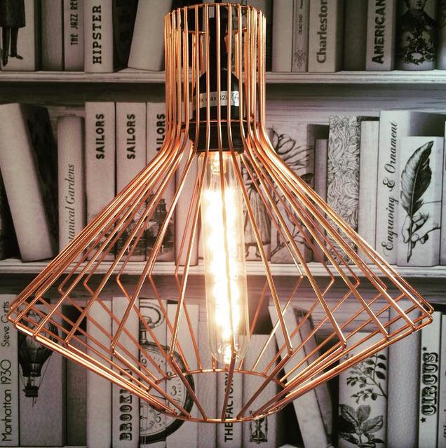 Lampe suspension cuivre cage leroy merlin conforama.
