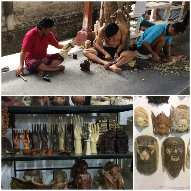 artisan sculture bois bali masque main