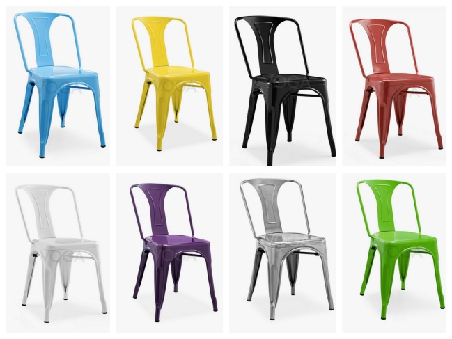 20 chaises design moins de 100 euros blog d co clem around the corner - Chaise style tolix pas cher ...