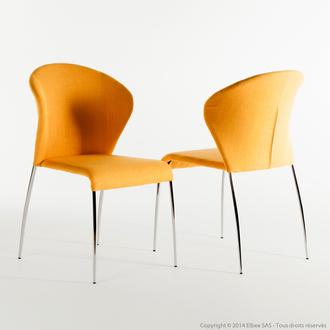 chaises design à moins de 100 Euros jaune