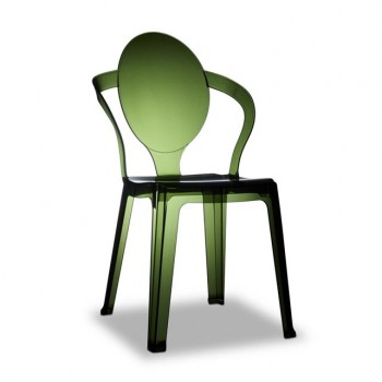chaises design à moins de 100 Euros transparente verte