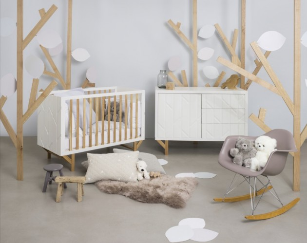 chambre bebe grise forest natalys x hekla