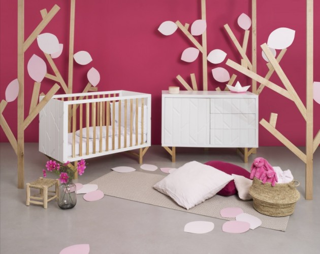 chambre bebe rose forest natalys x hekla