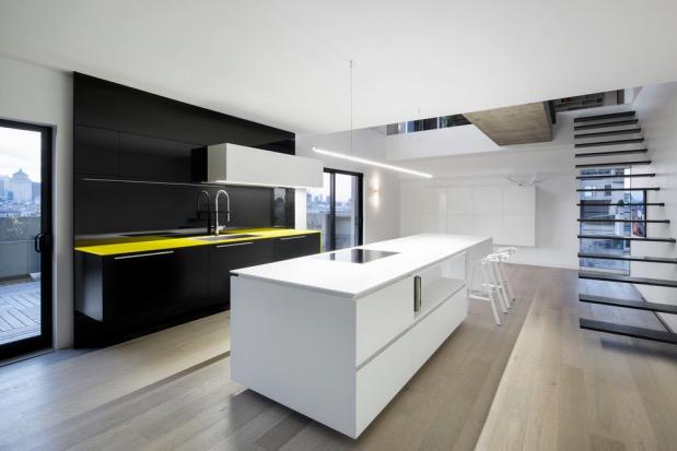 cuisine minimaliste Moshe Safdie Habitat 67