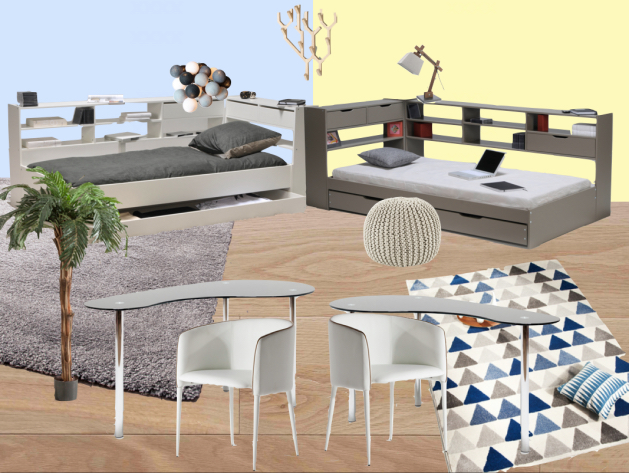 Inspiration deco chambre ado blog d co clem around the for Amenagement chambre pour deux garcons