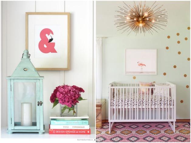 déco flamand rose chambre-bébé-enfant