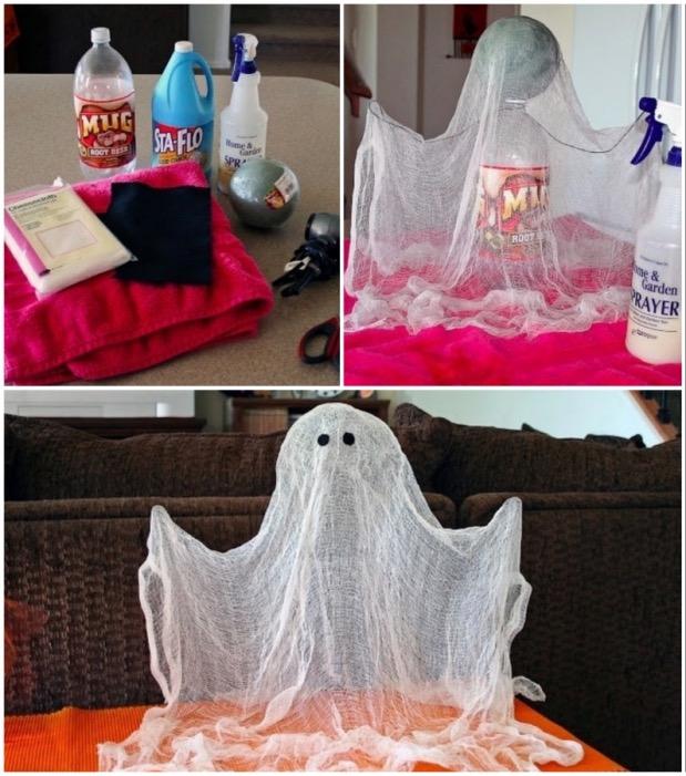 fantome faire soi-même sa déco d'Halloween
