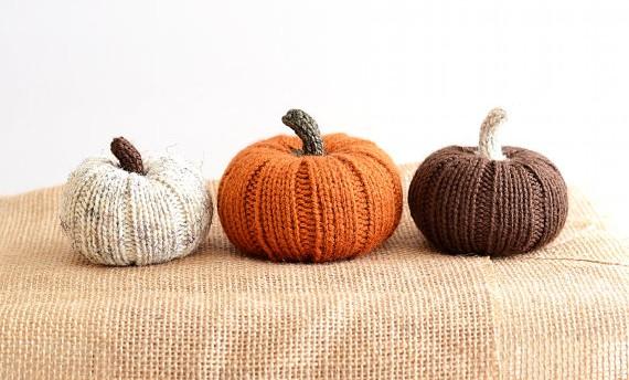 Citrouilles tricotées (par 3) - 45,95€.