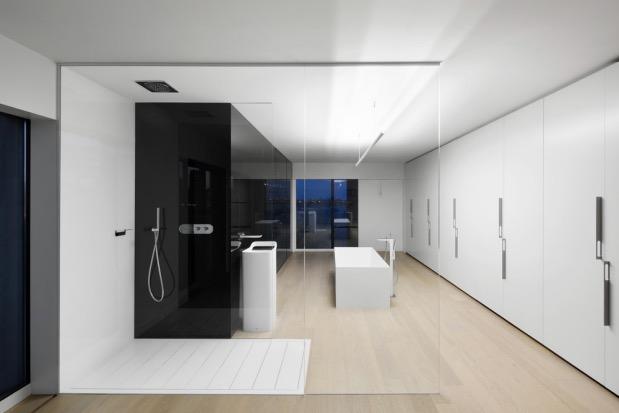 salle de bain minimaliste par Studio Practice