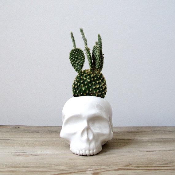 vase crane squelette Halloween Etsy.
