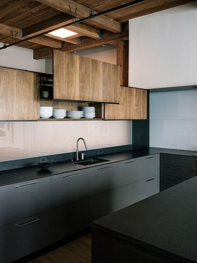 cuisine moderne design bois metal